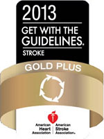 2013 Get with the Guidelines Stroke Gold Plus Quality Achievement Award