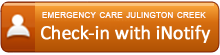 Check in with iNotify at Emergency Care Center Julington Creek